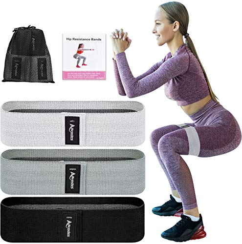 Allvodes Booty Bands, Fabric Resistance Bands for Legs and Butt, Non Slip Exercise Bands for Women...