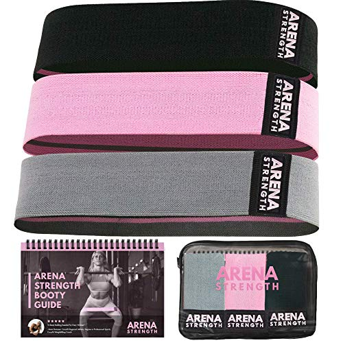 Arena Strength Fabric Booty Bands - Fabric Exercise Bands for Legs and Butt | Fabric Resistance...