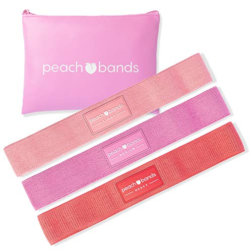 Peach Bands Hip Band Set - Fabric Resistance Bands - Exercise Bands for Leg and Butt Workouts