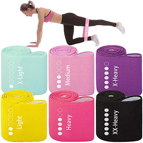 Aora Livre Fabric Resistance Bands for Legs,Butt,Glutes,Arms Non-Slip Stretch Workout Exercise Booty...